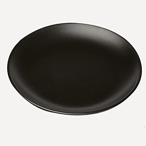 RONGXIANMA Plato Platos Negros Aperitivos Comida rápida Sushi Plato de Filete Comida Postre Plato de té Vajilla
