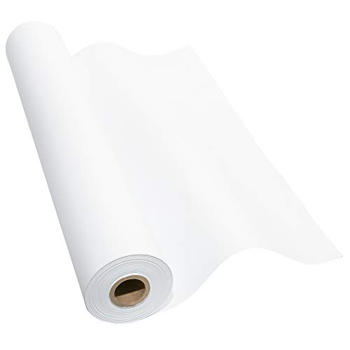 Made in USA White Kraft Paper Wide Jumbo Roll 48' x 1200' (100ft) Ideal for Gift Wrapping, Art &Craft, Postal, Packing Shipping, Floor Protection, Dunnage, Parcel, Table Runner, 100% Recycled Material