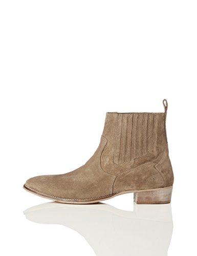 find. Carlisle Herren Chelsea Boots im Western-Style, Braun (Dark Taupe), 45 EU