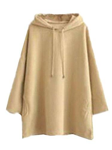 BESTHOO Sudaderas con Capucha Mujer Outwear Hoodies Universidad Sudadera Oversize Suelto Pullover Elegantes Jerseys Bonitas Tops Color Puro