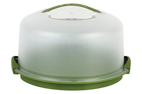 Tartera Redonda grande polipropileno alimentario con medidas 34.5x18,5 cm.Tartera Redonda grande Mod. Pavlova (Verde)