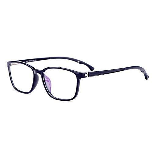 Ultralight TR90 Full Frame Leesbril Met Antislip Glazen Benen En HD Hars Lenzen Met Dioptrie Voor Mannen En Vrouwen,Bright black,+ 2.00
