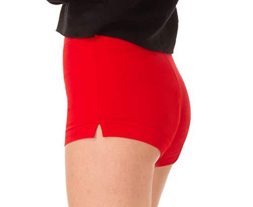 BeComfy Shorts Leggings Dames Ademend Katoen Korte Broeke Sport Ondoorzichtig Wit Rood Zwart Grafiet 36-46 EU