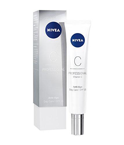 NIVEA PROFESSIONAL Vitamin C Tagespflege LSF 15, Creme Tagescreme fürs Gesicht, Anti-Aging Pflege gegen Falten, Anti-Falten Gesichtspflege, Anti Aging Gesichtscreme für faltenfreie Haut, 1 x 50 ml