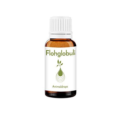 Animaldrops FLOH-GLOBULI 10g für Haustiere - Katzen, Hunde, Pferde - 100% natürliche Blütenmischung Flöhe - pflanzlich, vegan, ohne Zusatzstoffe, chemiefrei