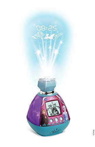 VTech - Reine Des Neiges 2 - Kidimagic Color Show - Radio réveil enfant avec projection de l'heure au plafond