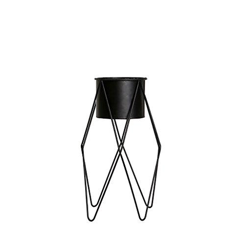 Cdbl étagère de Rangement Minimaliste Artsy Fer Cadre Noir Fleur présentoir Simple Moderne Design de Mode pour Votre Intérieur Intérieur Salon Décoration Support en Bois Massif