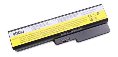 vhbw Batería Recargable Compatible con Lenovo 3000 G550-2958LEU, G550-2958LFU, G555, N500, N500 4233 Notebook (4400 mAh, 11,1 V, Li-Ion)