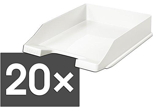 HAN 1027 Briefablage KLASSIK, DIN A4/C4, stapelbar, stabil, modern (weiß / 20er Pack)