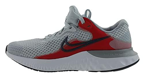 Nike Renew Run 2, Scarpe da Ginnastica, Pure Platinum/Deep Ocean-Chile Red, 38 EU