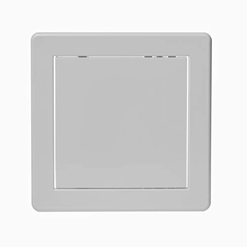 Vent Systems 6'' x 6'' Inch Access Panel - Easy Access Doors - ABS Plastic - Access Panel for Drywall, Wall and Ceiling Electrical and Plumbing Service Door Cover