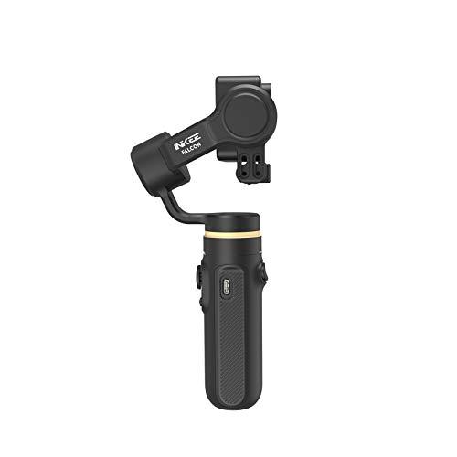 Staright Falcon Handheld 3-Achsen-Actionkamera Gimbal Stabilizer Anti-Shake Wireless-Steuerung Vertikale/horizontale Zeitrafferaufnahme mit Mini-Stativ Ersatz für GoPro Hero 9/8/7/6/5 Action