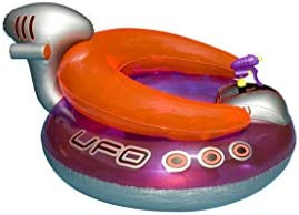 Swimline Inflatable UFO Lounge Chair Swimming Pool Float with Squirt Gun