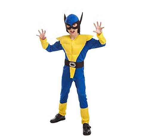 El Rey del Carnaval Disfraz Sper Lobo Amarillo para nio