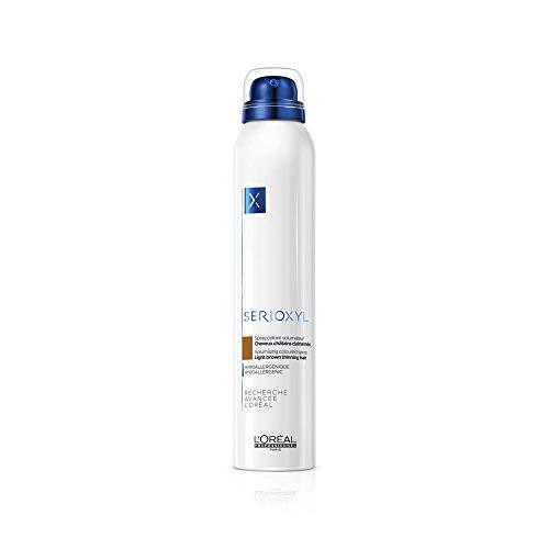 L'Oréal Professionnel Serioxyl Volumising Coloured Spray für hellbraunes, dünner werdendes Haar, hypoallergen, 200 ml