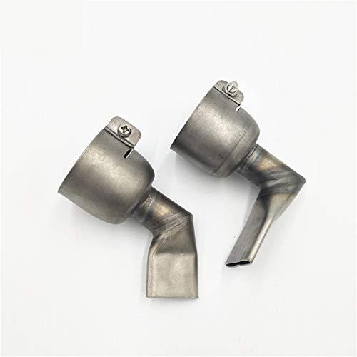 2 STÜCKE 20 mm 60 Grad Winkelweiter Schlitz Schweißdüse mit 20 mm 90 Grad Winkelweiter Schlitz Schweißdüse für Triacs Heißluftpistole