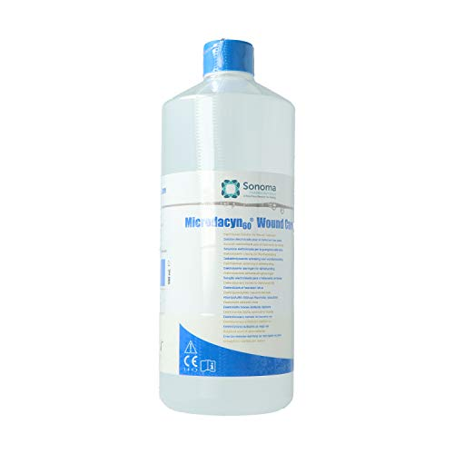 Microdacyn 60 Woundcare 990ml I Elektrolysierte Lösung Zur Wundversorgung I Wundbehandlungsflüssigkeit I Auch Für Verbrennungen 1. Und 2. Grades
