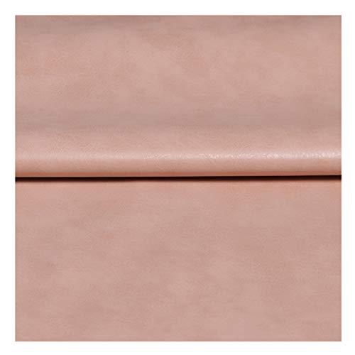 NIANTONG Tela de Polipiel de PU por Metro 137cm de Ancho Vinilo Tejido de Piel Sintética para Manualidades, Funda de Asiento de Sofá, Decoración(Color:Pink 23)