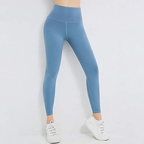 Lankfun Pantalones de Yoga de Control de Abdomen de Cintura Alta,Pantalones de Yoga Deportivos elásticos Delgados para Mujer-F_Large,Mallas de compresión de Control de Barriga
