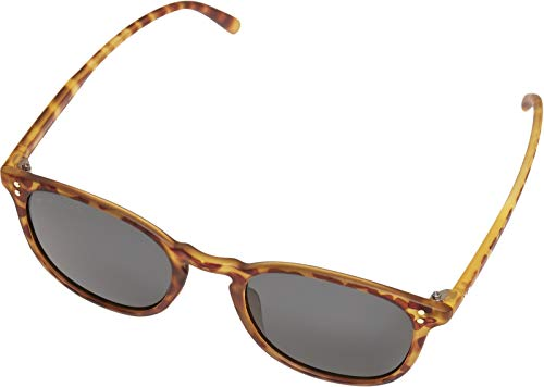 Urban Classics Unisex Sunglasses Arthur UC Sonnenbrille, Brown Leo/Grey, one Size