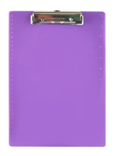 Saunders Memo Size Recycled Clipboard, Letter, Plum Purple, 21580