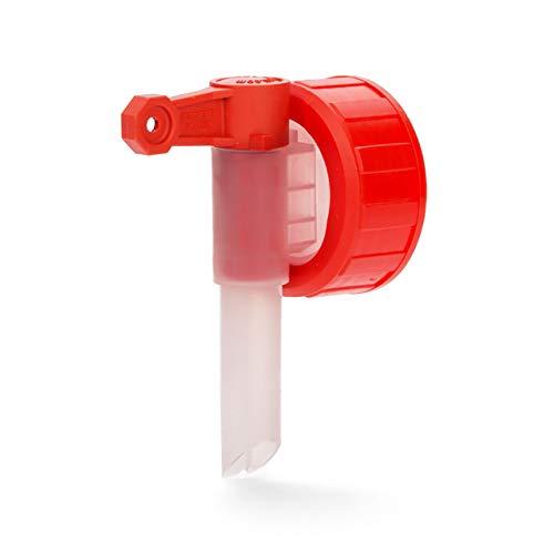 BiOHY Auslaufhahn, Abfüllhahn DIN 45 Dosierhahn (Einzeln)   Zapfhahn für Kanister   Ausgießer/Dosierhahn passend für 5/10 Liter Kanister mit Gewinde DIN 45