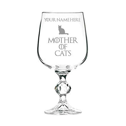 Copa de vino personalizada inspirada en el juego de tronos de madre de gatos de 325 ml