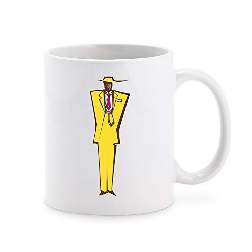 Cool Retro Vintage Abstract Man in Zoot Suit Cartoon Coffee Mug Tea Cup Novelty Gift Mugs 11 oz