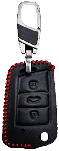 HAHASG Funda Protectora para Llave de Coche, para Seat Leon 2 FR Cupra 5f Mk3 Ibiza Altea Toledo Alhambra Ateca Accesorios para Llaves Key Shell-Red, para Seat