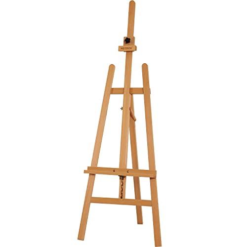 MEEDEN Basic Studio Easel, Wood Artist Easel,A-Frame Floor Painting...