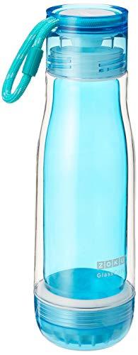Zoku - Botella de cristal con tapón impermeable