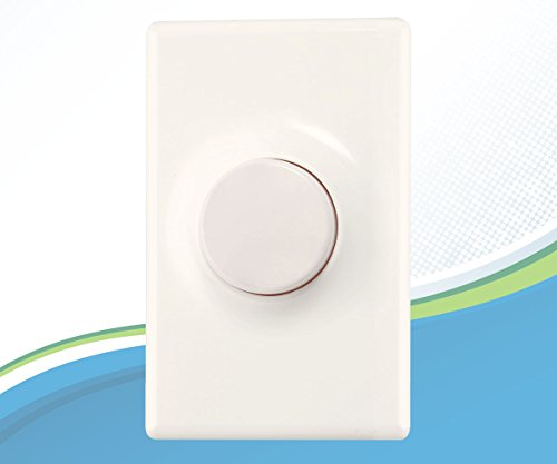 Dimmer Switch for LED Lights, Viribright Dimmer for LED (300 Watt) and Incandescent (600 Watt) Light Bulbs, Single-Pole , No Hub Required, with Wallplate, White