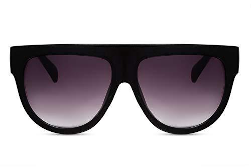 Cheapass Damen Sonnenbrille Schwarz Über-Groß XXL Oversized UV-400 Designer-Brille Frauen