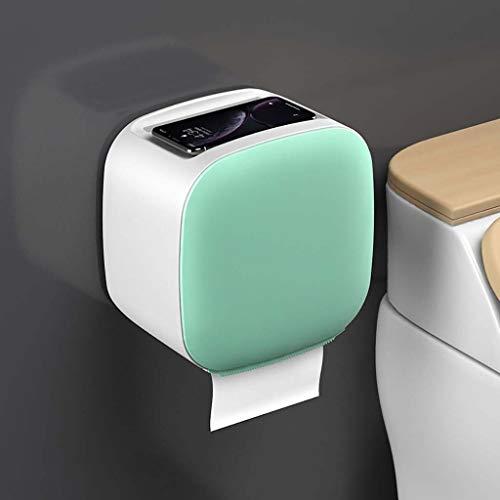 BCL Toilettenpapierhalter Papierhandtuchspender, Gewerbliche Toilettenpapierspender Wandhalterung Papierhandtuchhalter Mehrfach-Papierhandtuchspender Für Küchen- Und Toilettendekor(Color:Grün)