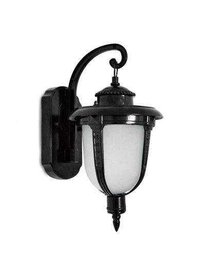 QTRT Pequeña lámpara de Pared de Pesca al Aire Libre Impermeable Soporte de Pared luz balcón lámpara de Pared Patio luz Pasillo escaleras decoración Soporte luz (Color : Negro, tamaño : Two Packs)