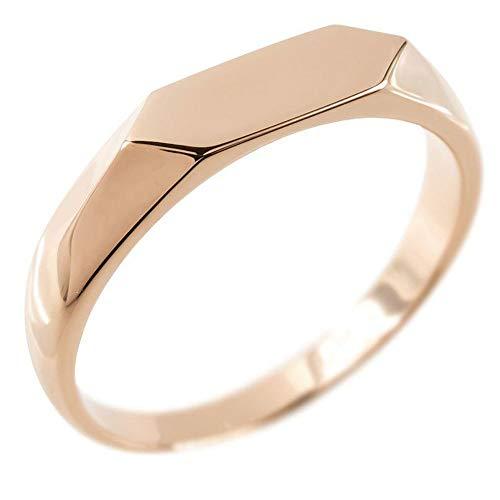 [アトラス]Atrus リング レディース 婚約指輪 18金 ピンクゴールドk18 地金 印台 指輪 エンゲージリング トレジャーハンター 22号