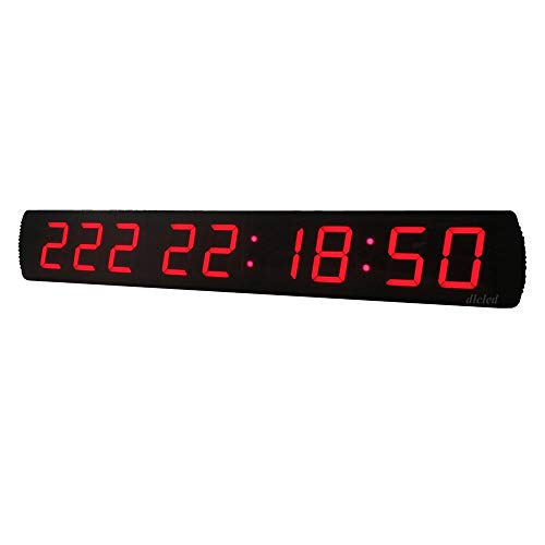Huangjiahao LED-intervaltimer LED-timer timer 4 inch 9 Digit timer multifunctionele countdown-timer stopwatch met afstandsbediening voor start garage fitness studio. Voor sportverenigingen.
