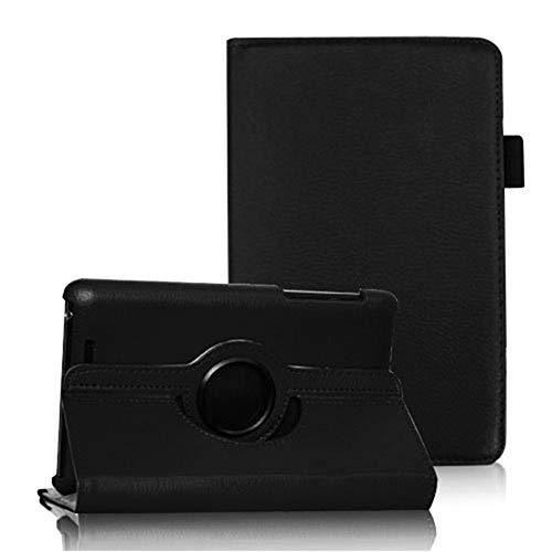 COOVY® Cover für Google ASUS Google Nexus 7 (1. Generation Model 2012) Rotation 360° Smart Hülle Tasche Etui Hülle Schutz Ständer Auto Sleep/Wake up | schwarz
