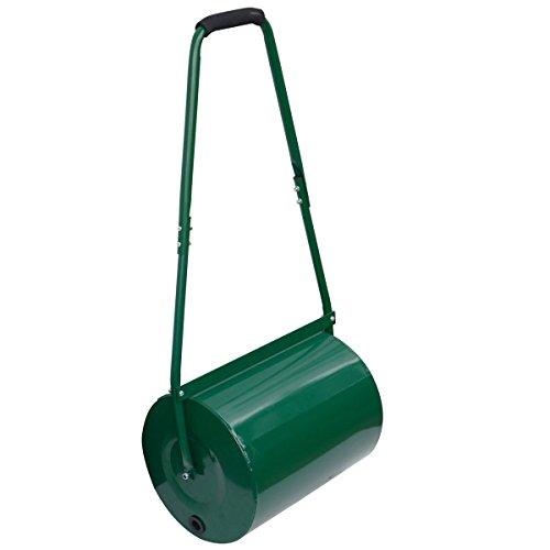 Crystals Garden Outdoor Lawn Aerator Heavy Duty Manual Handle Rolling Grass Roller (30L)