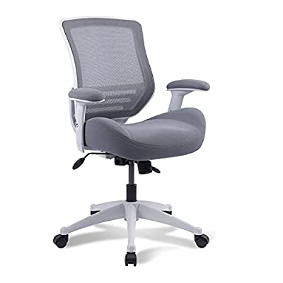 BOLISS Home Office Chair 400lbs Task Desk Chair Mesh Computer Chair Mid Back Ergonomic Swivel Managerial Executive Chair with Adjustable Height Armrests from LONGBO