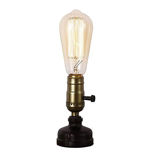 N\A ZGGYA Lámpara De Mesa LED Antigua, Base De Lámpara De Escritorio De Tubería De Agua con Interruptor para Cabecera, Comedor, Cafetería, Decoración De Pasillo