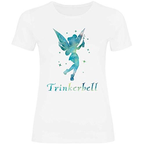 Royal Shirt Damen T-Shirt Trinkerbell, Größe:L, Farbe:White