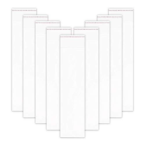 100pcs 3 x 12 Inch Self Sealing Cello Bags Long Clear Resealable Cellophane Bags Self Adhesive Seal Poly Bags 1 Mil for Bakery Cookies Candies Jewelry Crafts
