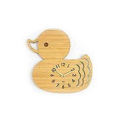 homeloo Bamboo Wood Wall Clock (Duck)