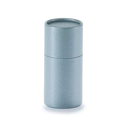 betubed runde Pappdose Papierdose Geschenkverpackung, Farbe: sage Durchmesser 45mm, Höhe 95mm, plastikfrei und nachhaltig.