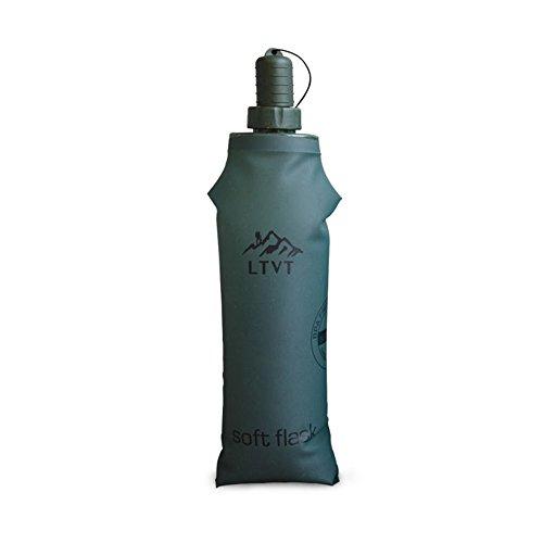 Bouteille d'eau Pliable, TPU BPA-Free Soft Gourdes Water Flask Can Bottle