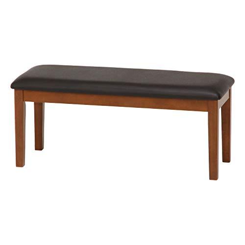 不二貿易 ダイニングベンチ 2人掛け 幅100cm ブラウン 天然木 長椅子 簡単組み立て スノア 96785