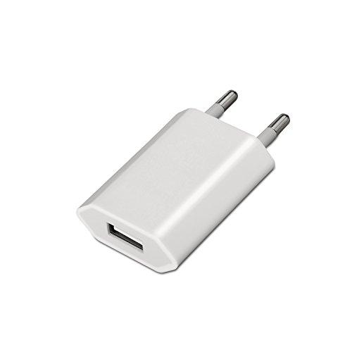 AISENS A110-0063 - Mini cargador USB (5V/1A) color blanco