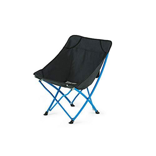 Tabouret pliant en plein air lumière portable esquisse chaise aluminium pêche camping pique-nique tabouret (Couleur : Black)
