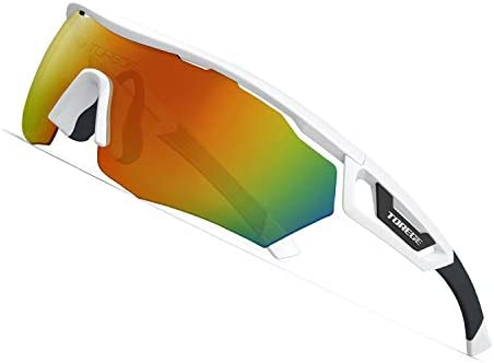 TOREGE Polarized Sports Sunglasses with 3 Interchangeable Lenes for Men Women Cycling Running product image
